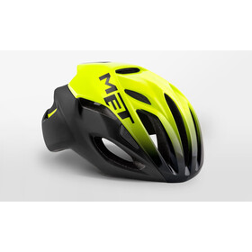 MET Rivale Fietshelm, black/shaded safety yellow